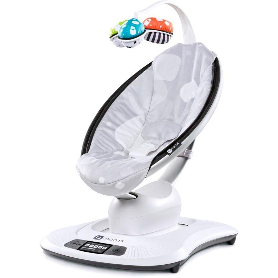 Cadeira de Descanso Mamaroo 3.0 Silver Plush - 4 Moms
